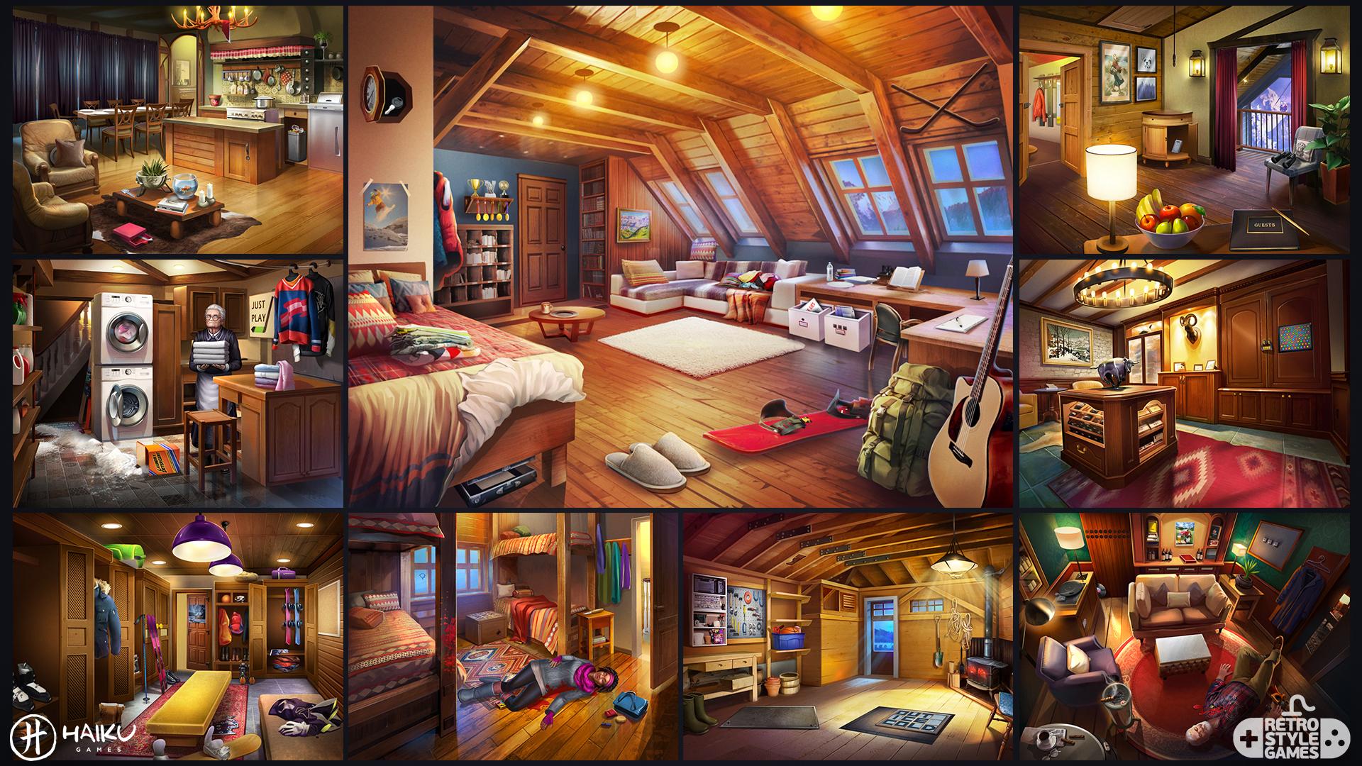 HAIKU Adventure Escape Murder Inn full art sheet1