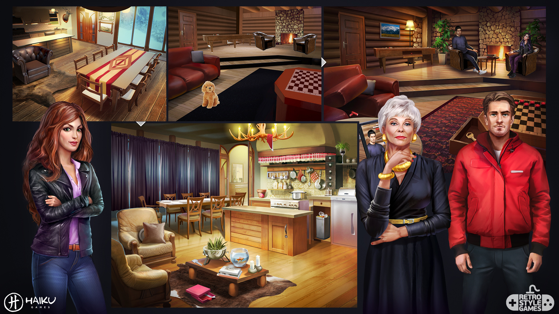 HAIKU Adventure Escape Murder Inn full art sheet3