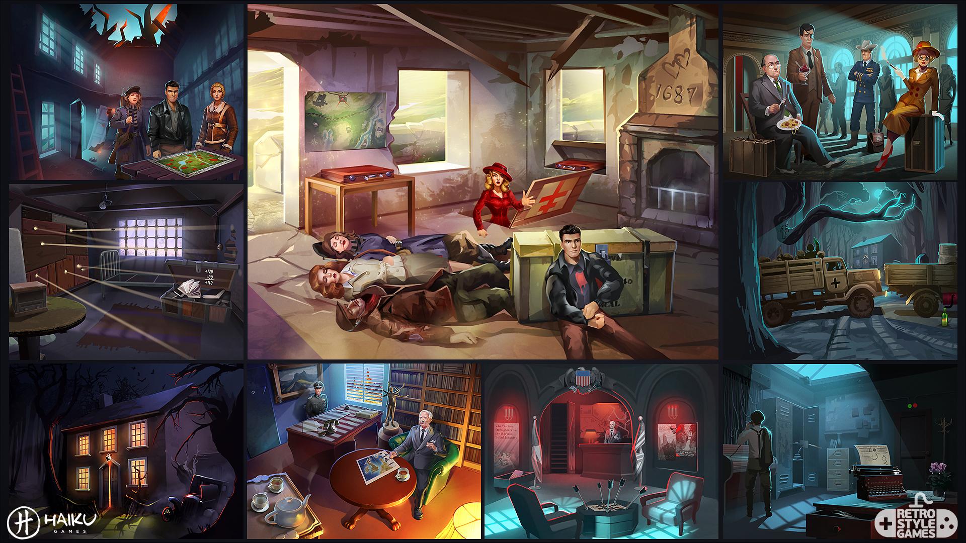 HAIKU Allied Spies Adventure Escape full art sheet1