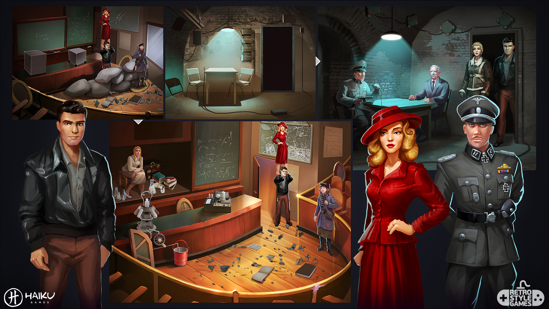 HAIKU Allied Spies Adventure Escape full art sheet3
