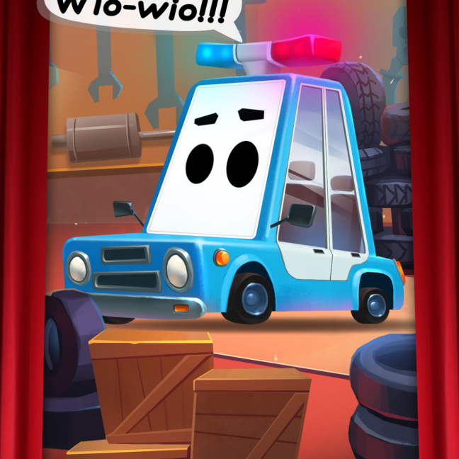 Kids theater cars police 1242x2208 V