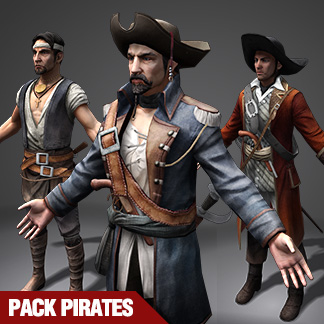 Pirate Characters – 3ds Games Sprite