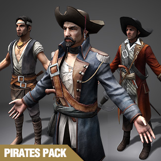 Pirate Characters – Real-time 3D Collection