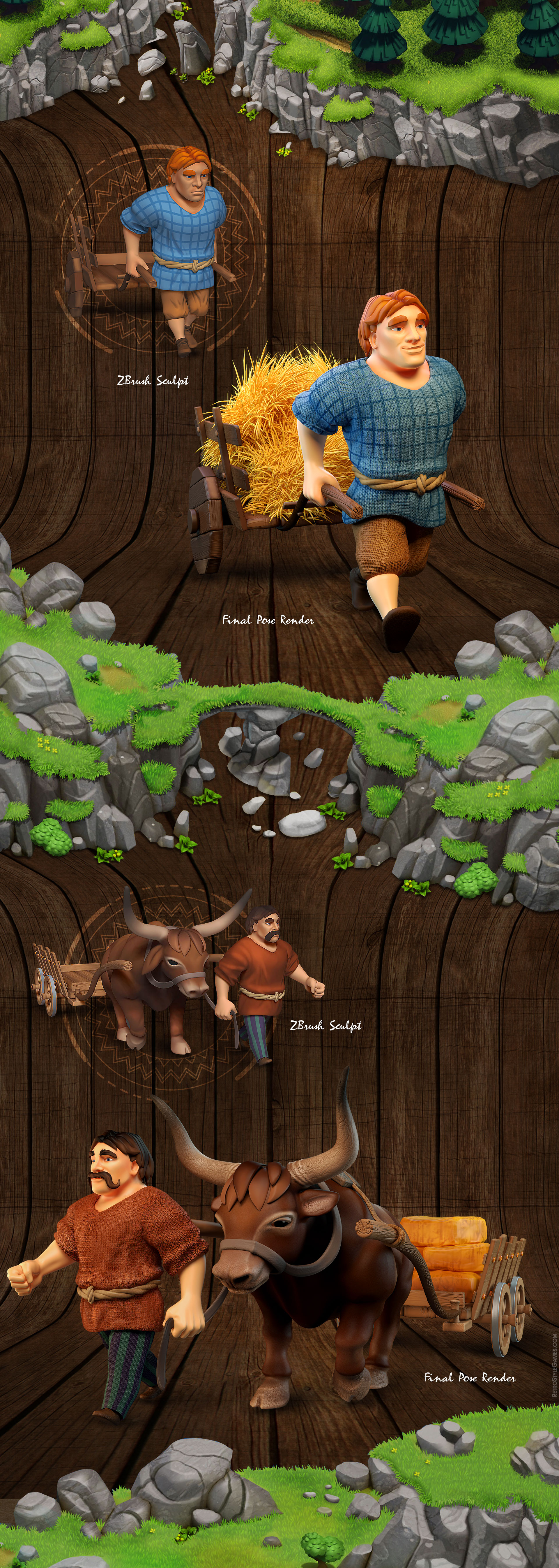 Celtic Tribes game sprite characters promo poses 1920 004