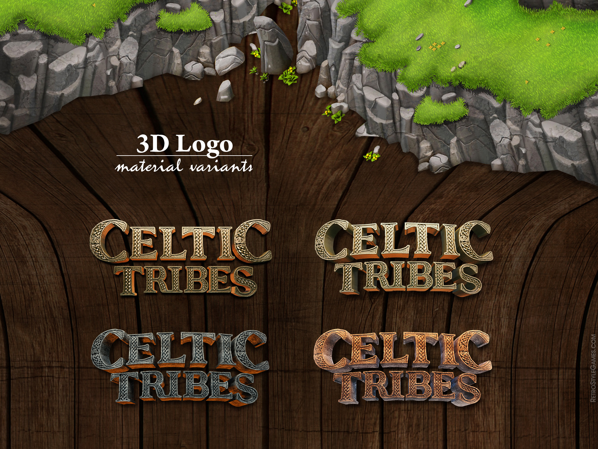 Celtic Tribes game sprite characters promo poses 1920 005