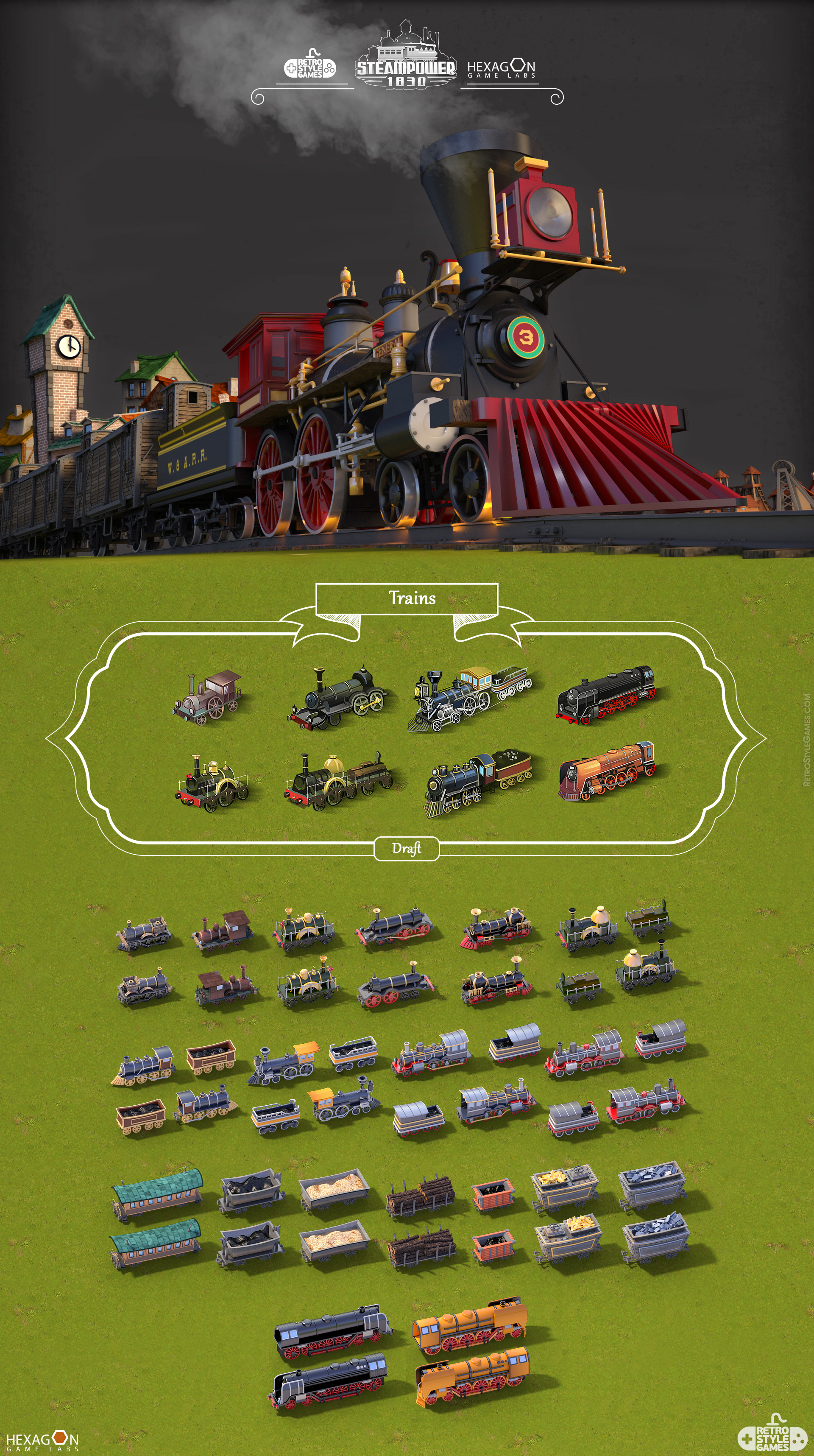 Steampower 1830 Isometric Game Sprites sheet-10