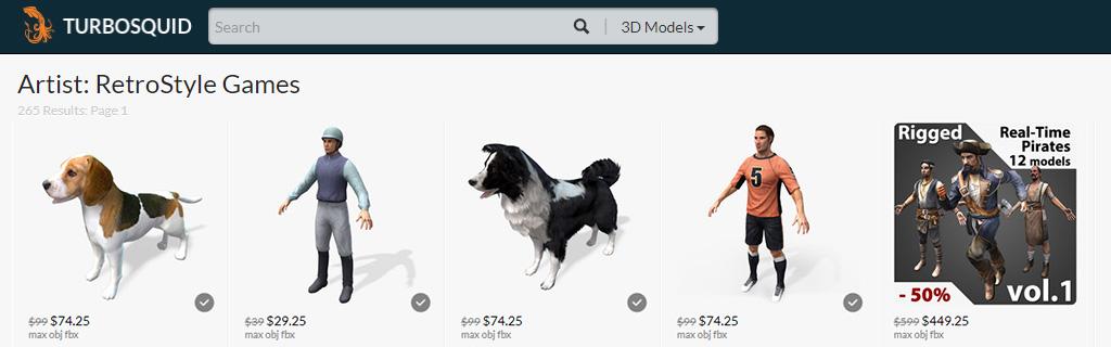 RSG Portfolio Examples - 2D and 3D Art Services Update
