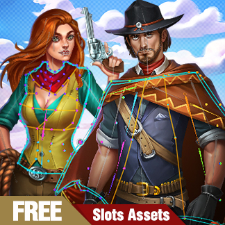 Cowboy Slot Machine Icons, Spine 2D Animation – Free Download