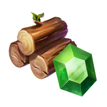 2D Game Icon Resources Wood Water Leather