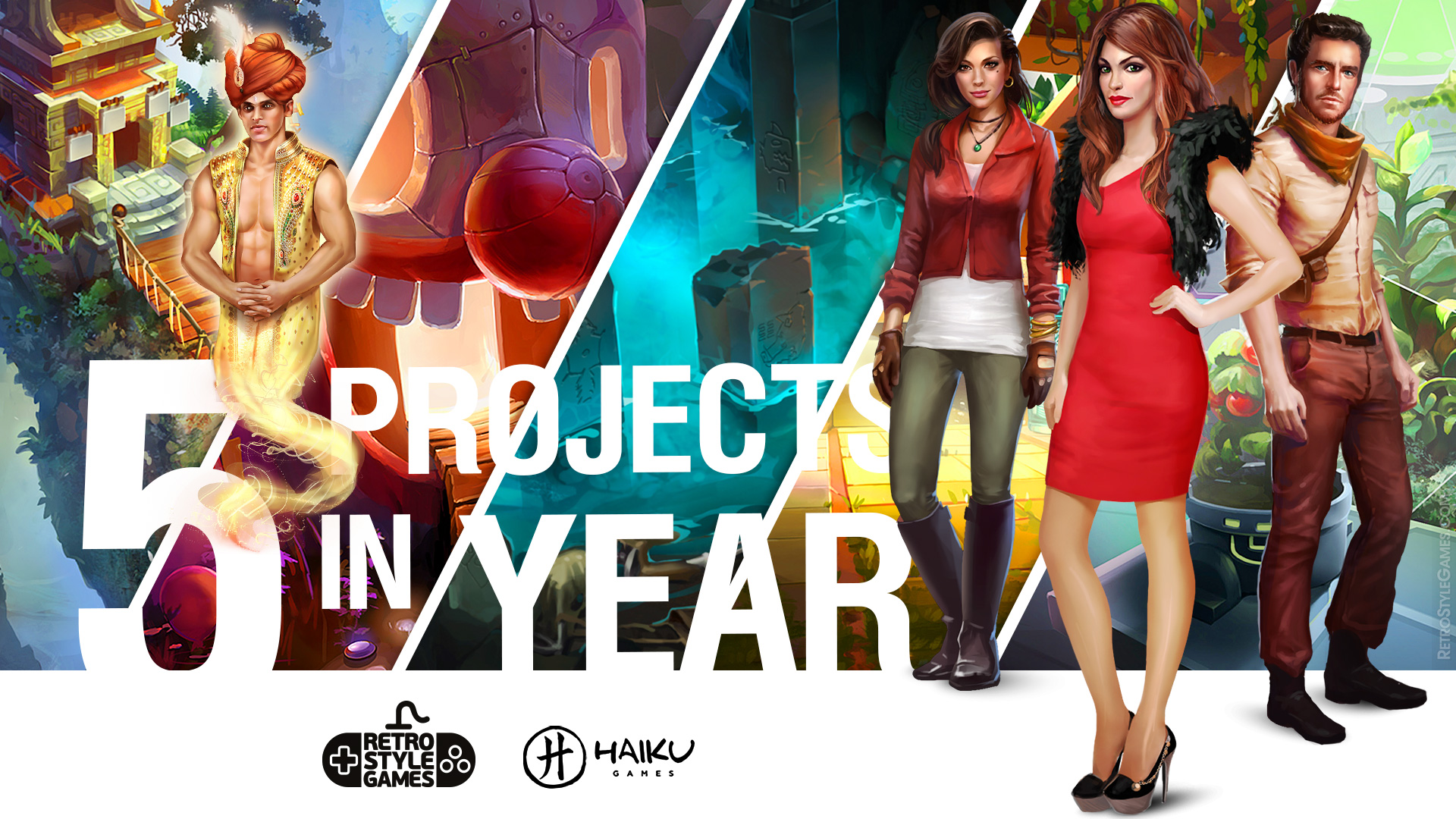 Character Concept Art 5 Games in Year