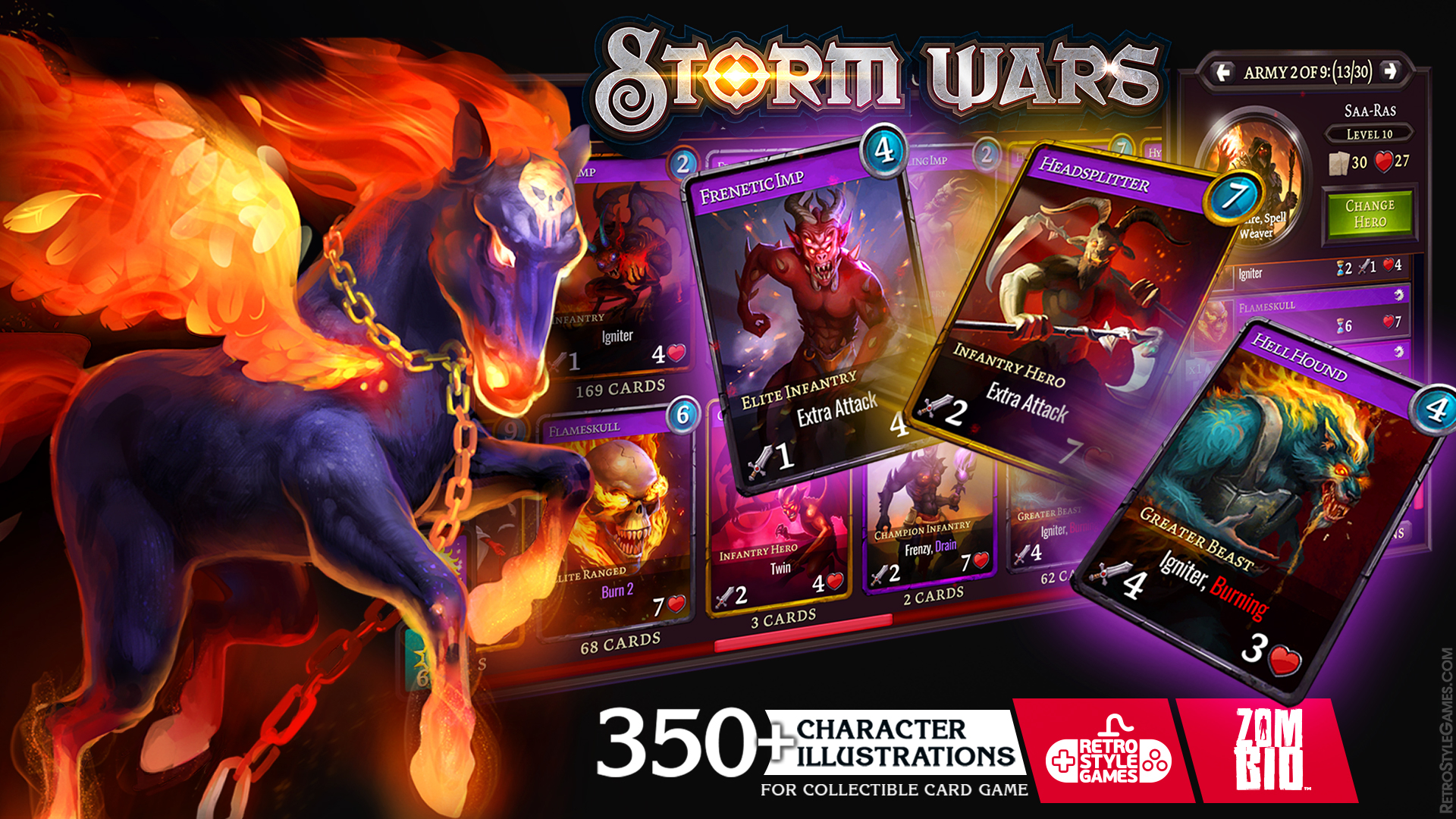 Collectible Card Character Concept Art Storm Wars