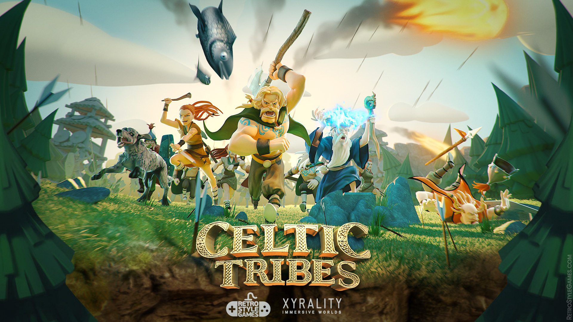 Fantasy 3D Character Concept Art Celtic Tribes