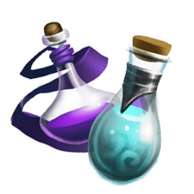Fantasy Game Icon Magic Flask Bottle Potion