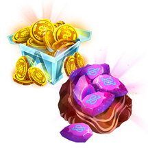 Game IAPs Icon Set Scifi Box Coins Gems