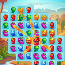 Game Icon Match-3 Cartoon Red Hot Pepper GUI