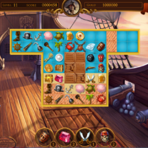 Game Icon Match-3 Pirate Skull Gun Key Chest GUI