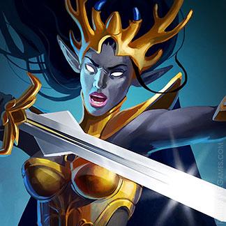 Icon Fantasy Character Design Dark Elf Set Queen
