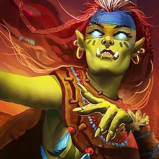 Icon Fantasy Character Design Orcish Set Princess