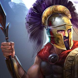 Icon Game Character Illustration Atlantean Set Warrior