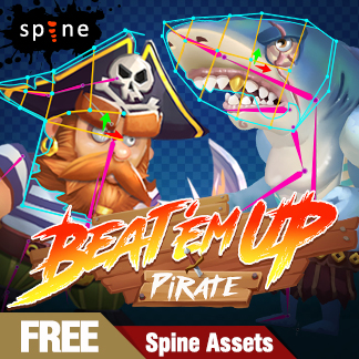 Spine 2D Animation for Pirate Characters  – Unity Assets Free Download