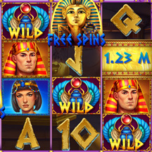 Slot Machine Game Icon Egypt Pharaoh Scarab