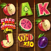 Slot Machine Game Icon Fruit Jungle Tropics