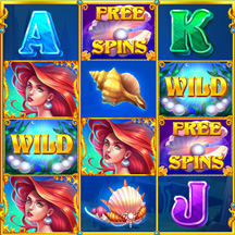 Slot Machine Game Icon Underwater Mermaid Ariel