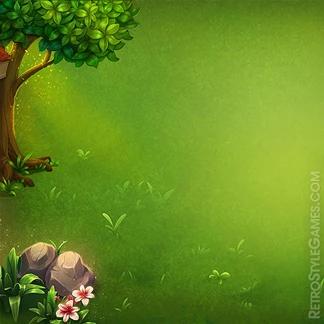 2d Illustration Game Background Garden Bench