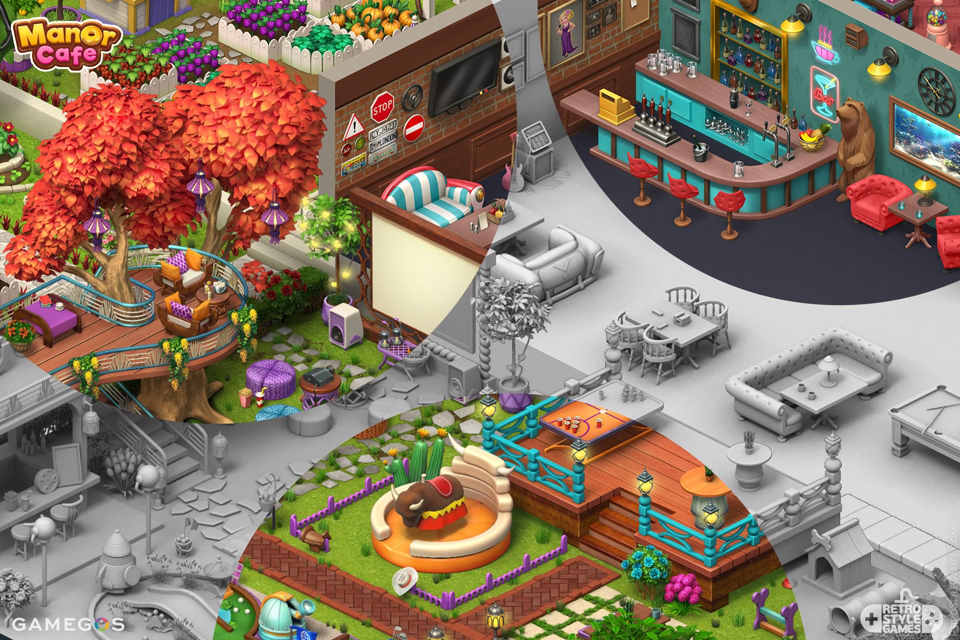 Pre-rendered Isometric Garden RPG Gardenscapes Sprites