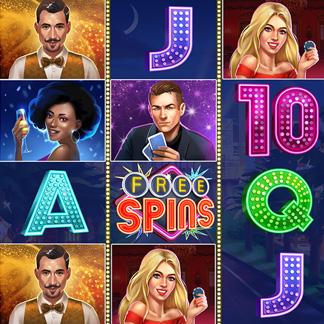 Slot Machine Game Icon Stylized Casino Las Vegas Strip