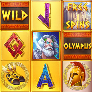 Slot Machine Game Stylized Icon Ancient Greece Olympus