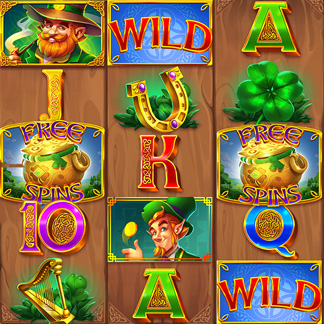 Slot Machine Game Stylized Icon Clover Leprechaun