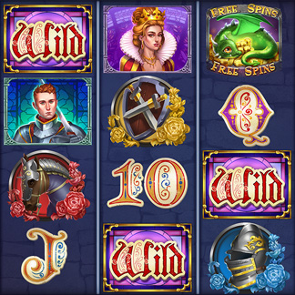 Slot Machine Game Stylized Icon Medieval Knights Arms