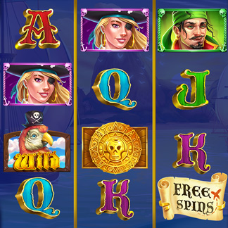 Slot Machine Game Stylized Icon Pirate Harbor