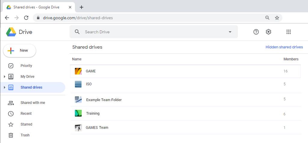 Shared Drives Google Drive