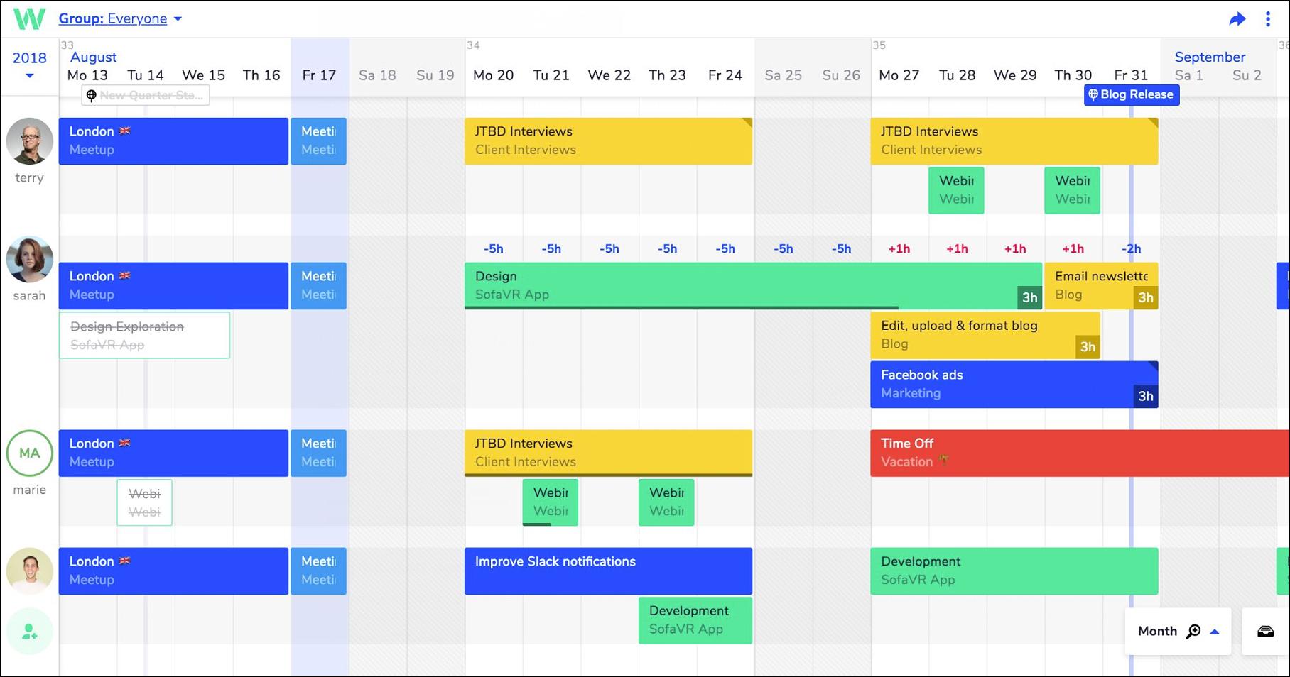 Weekly Monthly Planners Teamweek