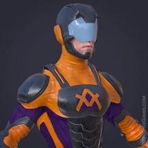 3D Superhero Character Design Sci-fi Atom Rigging