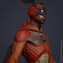 3D Superhero Character Design Sci-fi Rigging Beetle