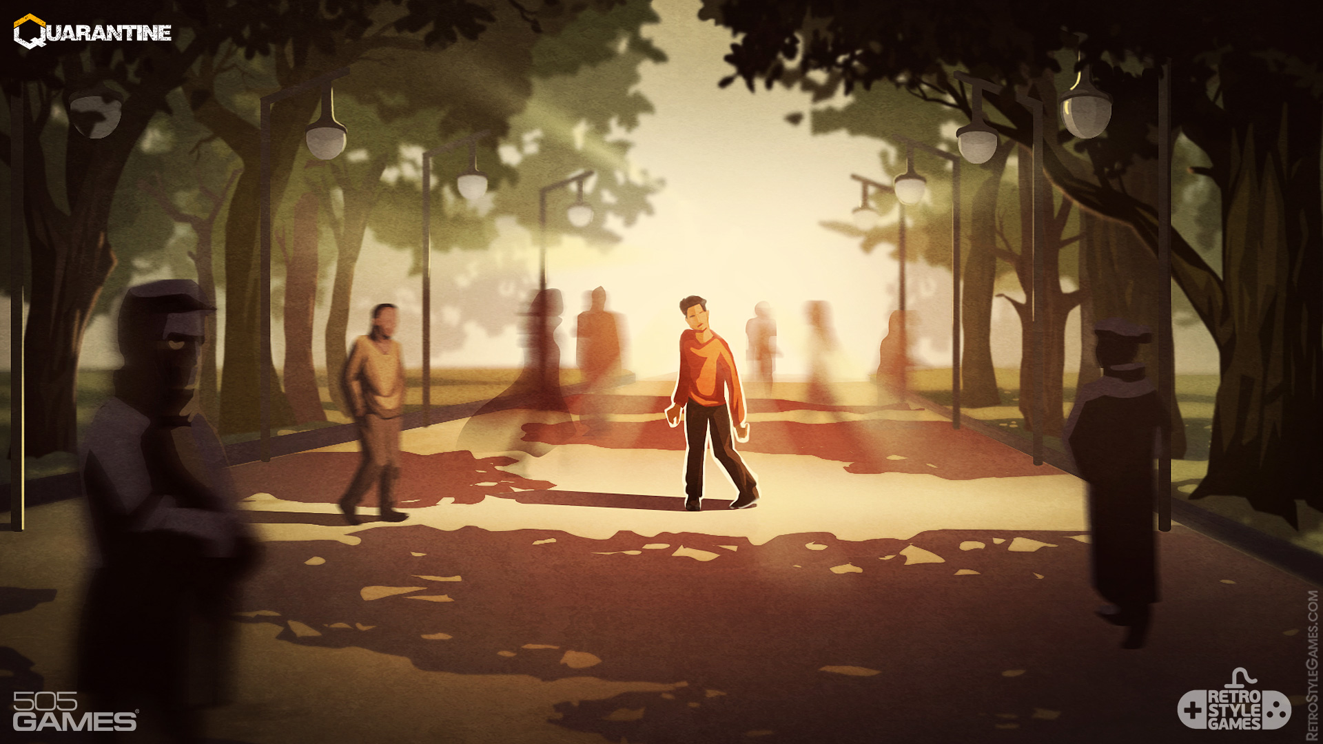 Quarantine 2D Game Background Zombie Park Concept Art