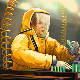 Quarantine Laboratory Background Space Suit Plague Characters