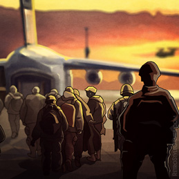 Quarantine Plague 2D Game Background Airport Evacuation