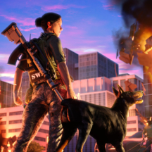Superhero Rebel Dog Game FX Effects Particles Fire City Destruction