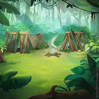 2D Game Background Paths Desert Island Hostile Jungle Camp