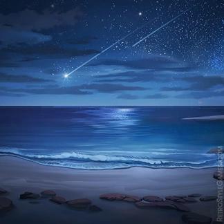 2D Game Background Paths Desert Island Night Beach