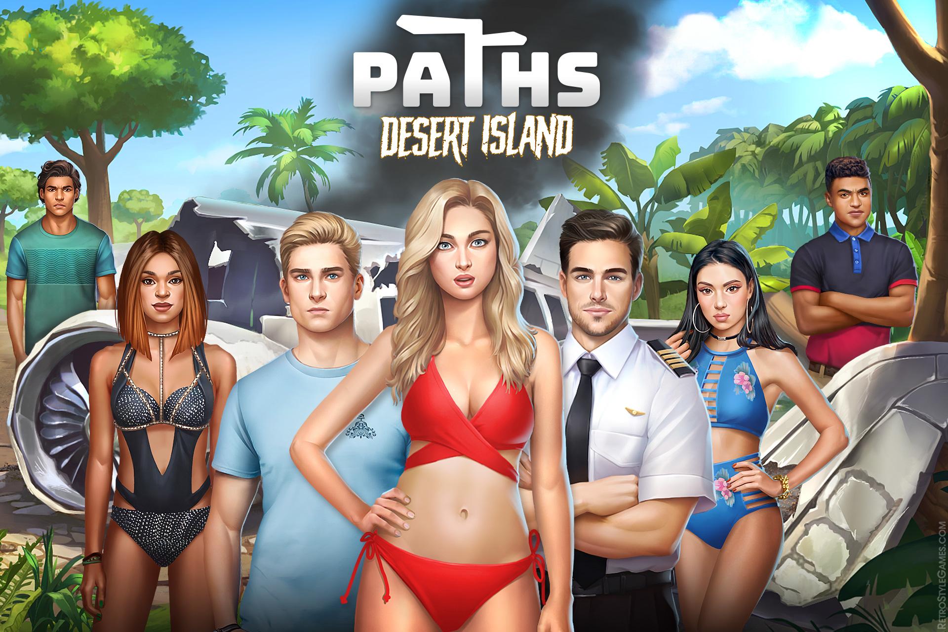 Paths 2D Choose Desert Island Lost Hostile Black Rock