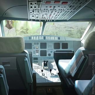 Paths 2D Game Background Plane Сockpit Concept Art