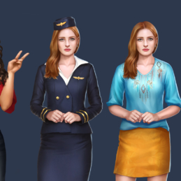 Paths Choose 2D Character Stewardess Emotions