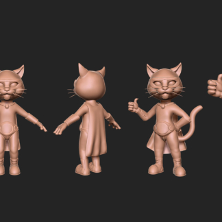 Real-Time 3D Modeling Characters Design Particles Hair Rigging