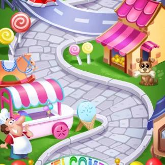 Toy 2D Background Levels Games Match-3 Fair Race