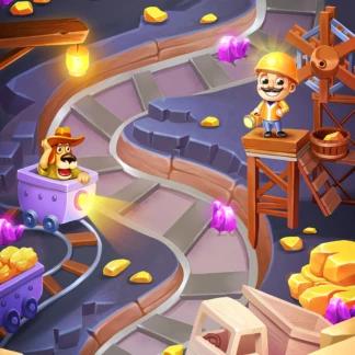 Toy 2D Background Levels Games Match-3 Minecraft